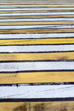 Pedestrian Two Color Zebra Crossing Royalty Free Stock Photography