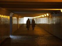 Pedestrian underground interior Stock Image