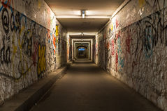 A pedestrian underpass in the city of Würzburg Royalty Free Stock Image