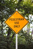 Pedestrian use only sign Stock Photos