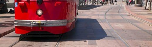 Pedestrian Corsswalk Trolley Stopped San Francisco Royalty Free Stock Photo