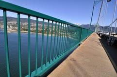 Pedestrian walk of a bridge Royalty Free Stock Photography