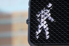 Pedestrian Walk Signal Stock Images