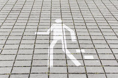Pedestrian walk signal Stock Photos