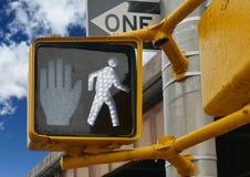 Pedestrian walking sign traffic light. Pedestrian walking sign at traffic light Royalty Free Stock Images