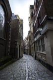 Pedestrian Walkway Between Buildings Stock Images