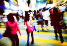 Pedestrian Walkway Crosswalk Crowded Consumerism Concept Royalty Free Stock Photo
