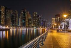 Pedestrian walkway in Dubai Stock Photography