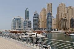 Pedestrian walkway in Dubai Royalty Free Stock Photos