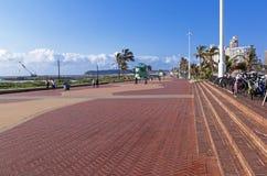 Pedestrian Walkway Early Morning at Durban Beachfront Royalty Free Stock Photos