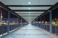 Pedestrian walkway. Empty Pedestrian Walkway at night Royalty Free Stock Images