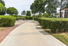Pedestrian walkway. For jogging and rest at garden Royalty Free Stock Photos