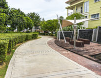 Pedestrian walkway. For jogging and rest at garden Royalty Free Stock Photography