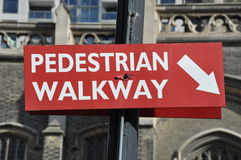 Pedestrian walkway sign Royalty Free Stock Photo