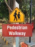 Pedestrian Walkway Sign Stock Photo