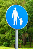 Pedestrian walkway sign Stock Image