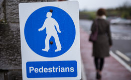 Pedestrian walkway sign Royalty Free Stock Photos