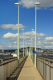 Pedestrian walkway, Tay road bridge, Scotland Stock Photography