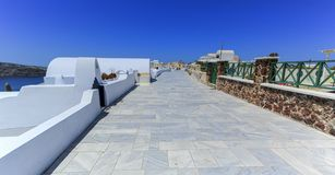Pedestrian way, Oia, Santorini, Greece Stock Images