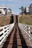 Pedestrian wooden bridge Stock Photography