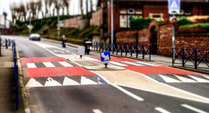 Pedestrian zebra across the street. Royalty Free Stock Photos