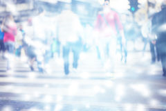 Pedestrian on zebra in motion blur Royalty Free Stock Images