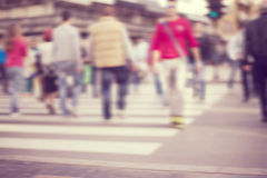 Pedestrian on zebra in motion blur Royalty Free Stock Photography