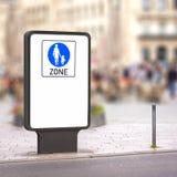 Pedestrian zone Royalty Free Stock Image