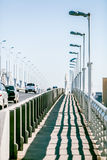 Pedestrian zone on the car bridge Stock Photography