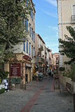 Pedestrian zone of the French mediterranean village Cerbere Royalty Free Stock Photos