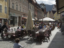 Pedestrian zone in Fuessen horizontal Royalty Free Stock Image