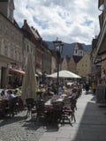 Pedestrian zone in Fuessen vertical Stock Images