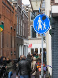 Pedestrian zone Royalty Free Stock Image
