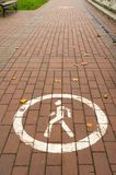 Pedestrian zone sign Stock Photography