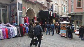 Pedestrian zone in Trabzon stock video footage