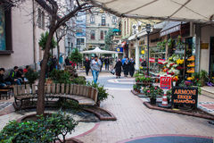 Pedestrian zone in Trabzon Stock Photo