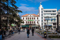 Pedestrian zone in Trabzon Royalty Free Stock Photos