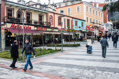 Pedestrian zone in Trabzon Royalty Free Stock Photography