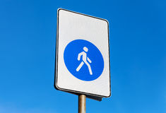 Pedestrian zone. Walkway road sign Stock Image
