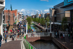 Pedestrian zone in Zaandam Stock Images