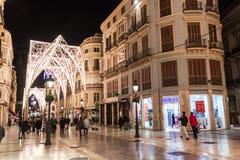 Free Pedestrianized Calle Larios In Malaga Stock Photo - 131343290