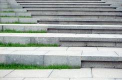 Pedestrianized stone staircase as achitecture design element horizontal view. Pedestrianized stone staircase as achitecture design element front view horizontal stock photo