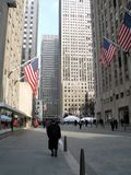 Pedestrians Only. This street in Rockefeller Center is closed to cars royalty free stock photography