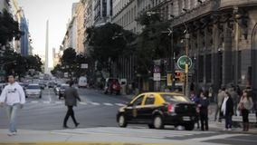 Pedestrians in Buenos Aires stock video footage