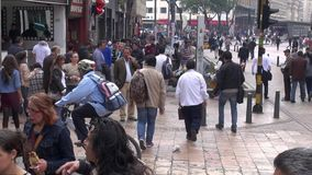 Pedestrians, Busy Intersection, Congestion. Stock video of pedestrians and people stock video footage