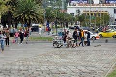 Pedestrians at Caroline Park in Quito, Ecuador Stock Photography