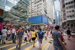 Pedestrians in Causeway Bay district Hong Kong Stock Photography