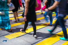 Pedestrians in Central of Hong Kong Royalty Free Stock Photos
