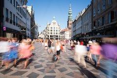 Pedestrians in Copenhagen Royalty Free Stock Image