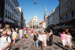 Pedestrians in Copenhagen Royalty Free Stock Images